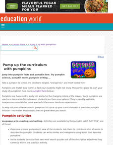 Pump Up the Curriculum With Pumpkins! Lesson Plan