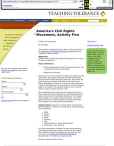 America's Civil Rights Movement, Activity Five Lesson Plan