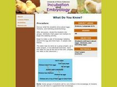 Incubation and Embryology Lesson Plan