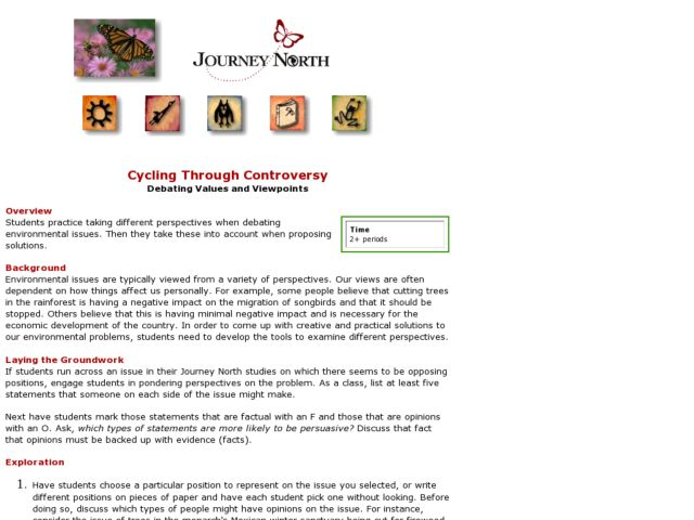 Cycling Through Controversy Lesson Plan