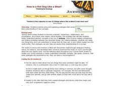 How is a Hot Dog Like a Shoe? Lesson Plan