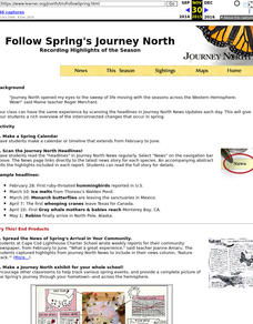 Follow Spring's Journey North Recording Highlights of the Season Lesson Plan