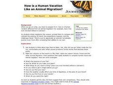 How is a Human Vacation Like an Animal Migration? Lesson Plan