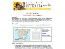 Predicting the Route of the Monarch's Spring Migration Lesson Plan