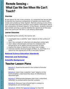 Remote Sensing - What Can We See When We Can't Touch? Lesson Plan