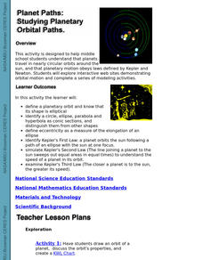 Planet Paths:  Studying Planetary Orbital Paths Lesson Plan