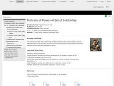 Portraits of Power-A Set of 6 Activities Lesson Plan