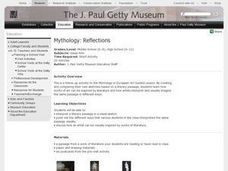 Mythology:  Reflections Lesson Plan
