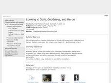Looking at Gods, Goddesses, and Heroes Lesson Plan