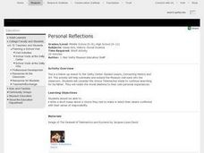 Personal Reflections Lesson Plan