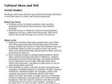 Cultural Show and Tell Lesson Plan