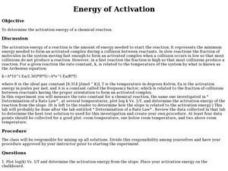 Energy of Activation Lesson Plan