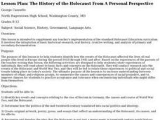 The History of the Holocaust From A Personal Perspective Lesson Plan
