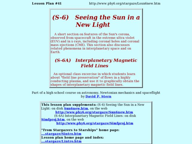 Seeing The Sun In A New Light Lesson Plan