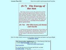 The Energy of the Sun Lesson Plan