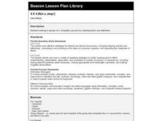 4 X 4 (Not a Jeep!) Lesson Plan