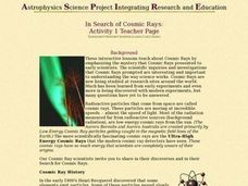 In Search of Cosmic Rays Lesson Plan