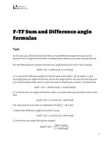 Sum and Difference Identities Lesson Plans & Worksheets