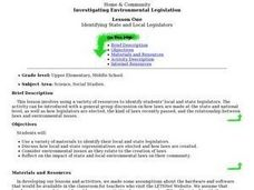 Identifying State and Local Legislators Lesson Plan