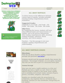 All About Reptiles Lesson Plan