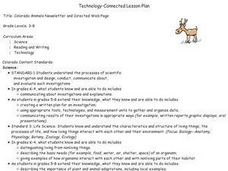 Colorado Animals Newsletter and Directed Web Page Lesson Plan