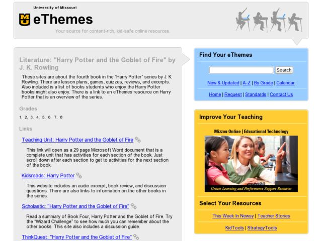 "Literature: ""Harry Potter and the Goblet of Fire"" by J. K. Rowling Lesson Plan"