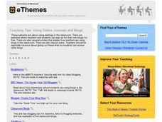 USING ONLINE JOURNALS AND BLOGS Lesson Plan
