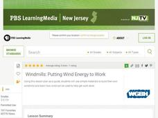 WINDMILLS: PUTTING WIND ENERGY TO WORK Lesson Plan
