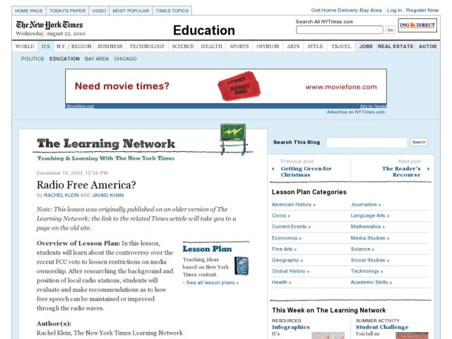 Radio Free America? Lesson Plan