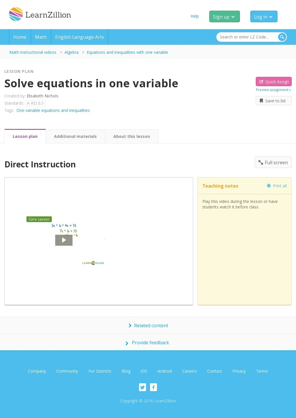 Solve Linear Equations and Inequalities in One Variable
