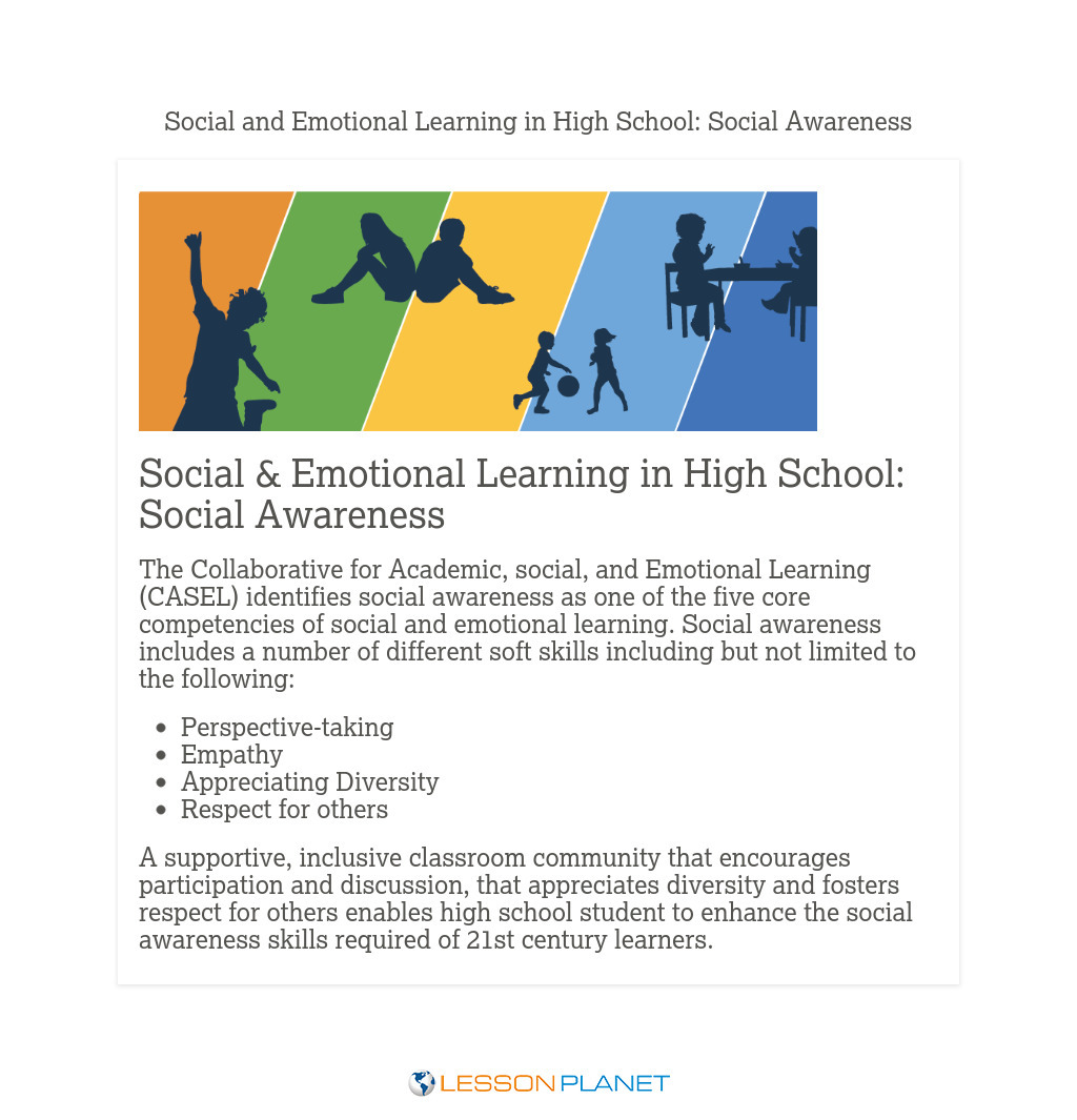 Social & Emotional Learning in High School: Social Awareness