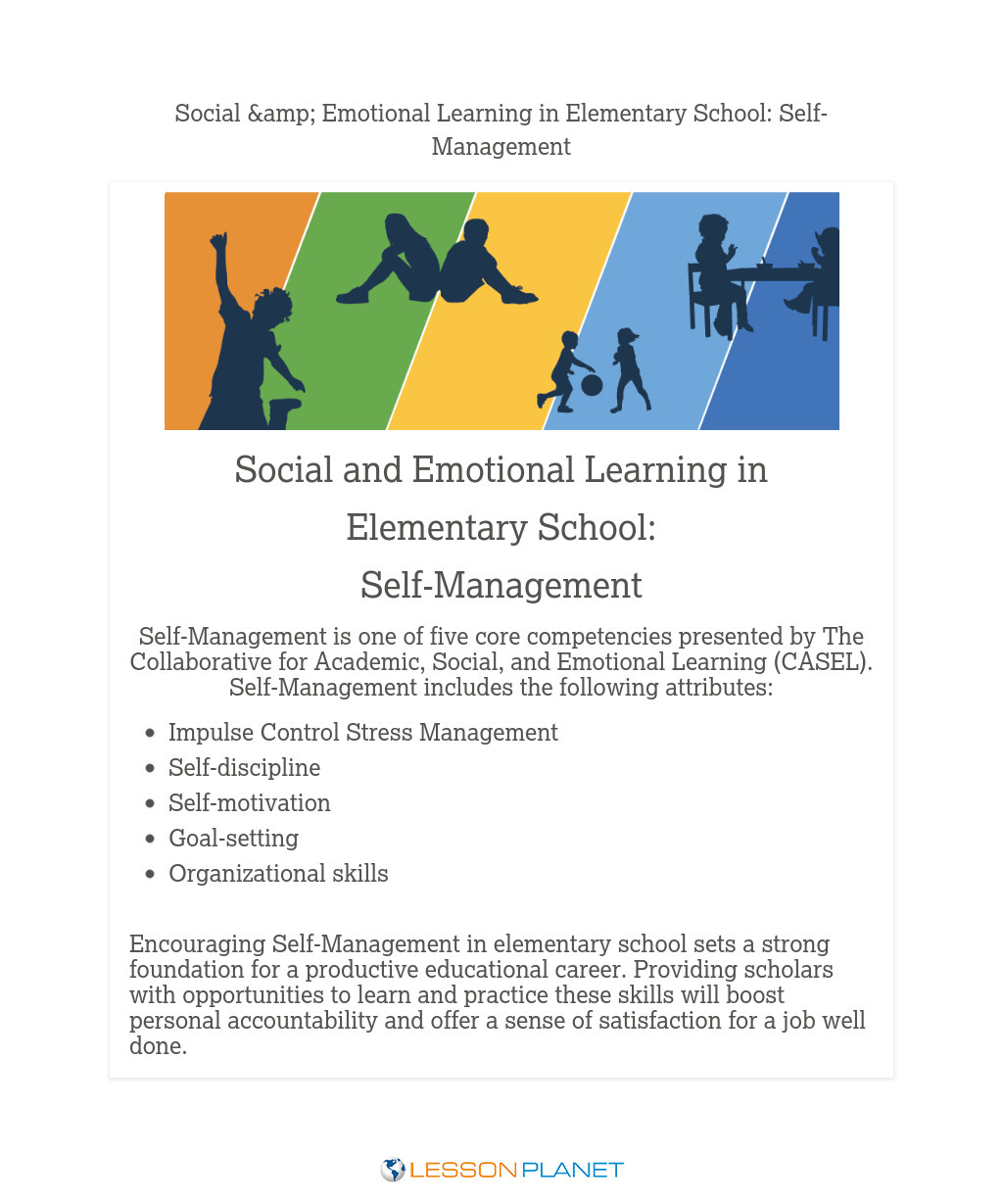 Social & Emotional Learning in Elementary School: Self-Management