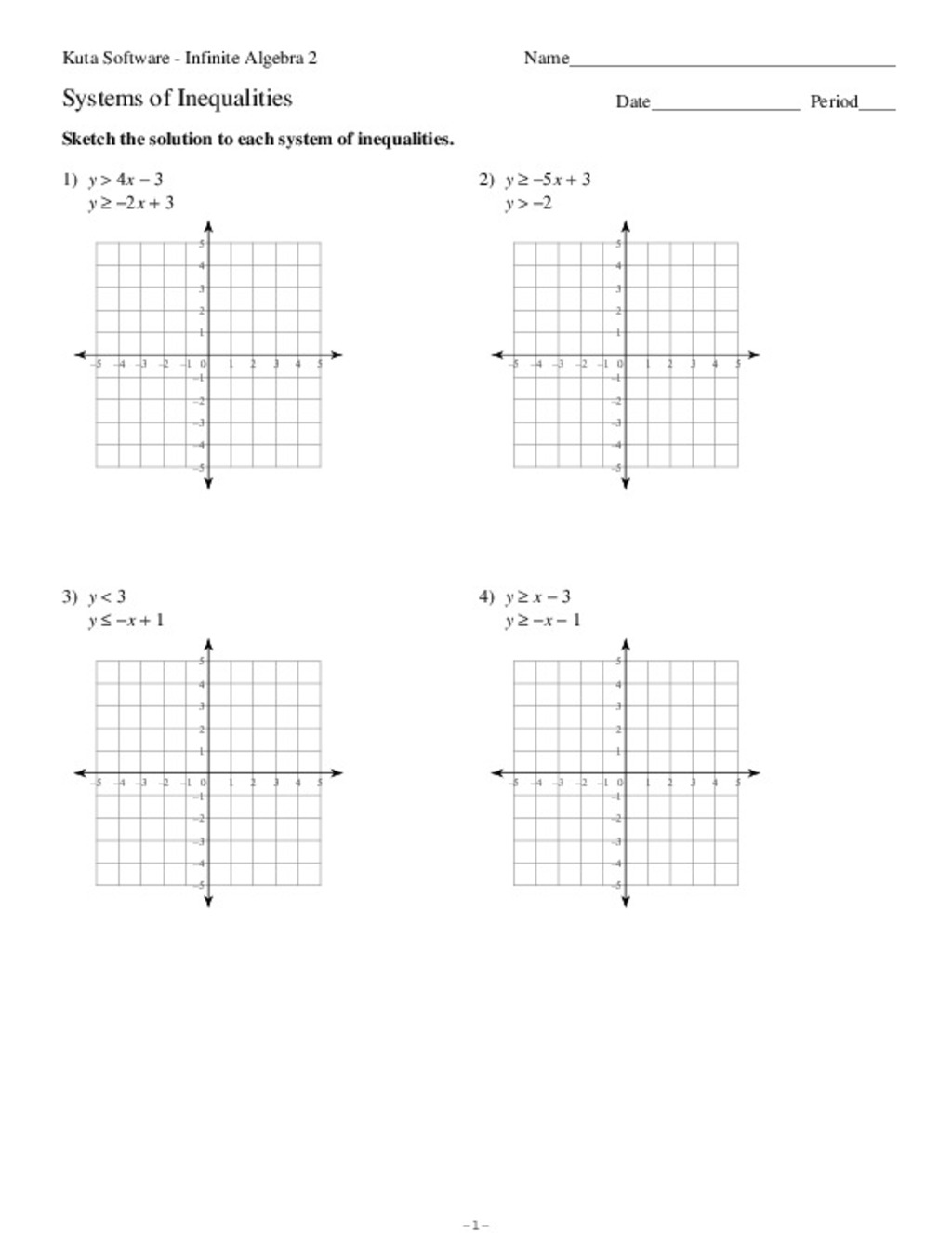 Systems Of Equations Graphing Worksheet Kuta - Tessshebaylo