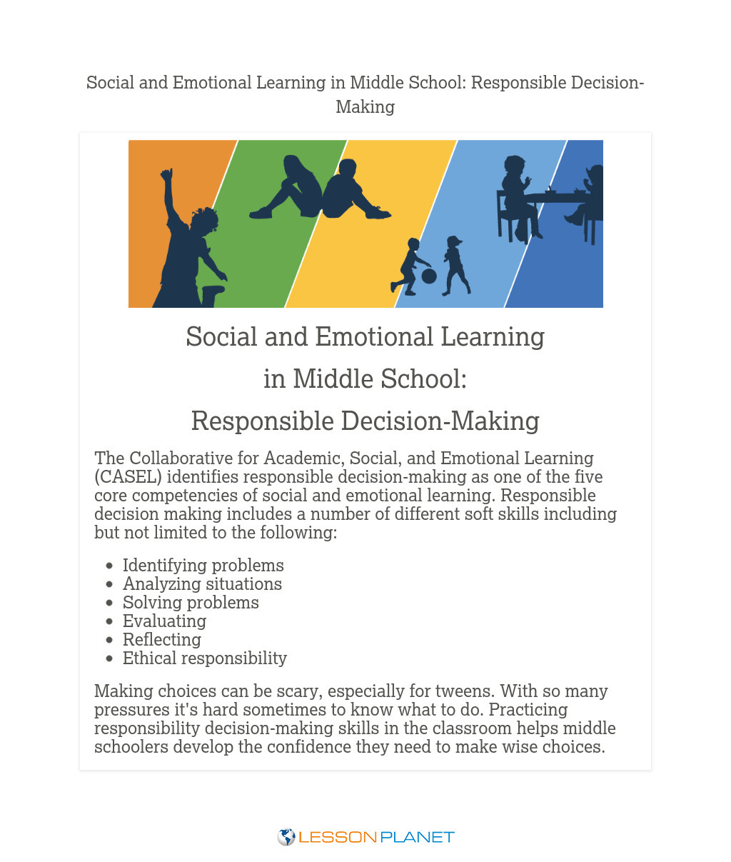 Social & Emotional Learning in Middle School: Responsible Decision-Making