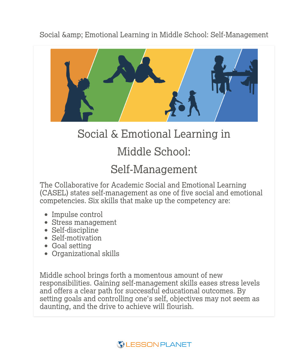 Social & Emotional Learning in Middle School: Self-Management